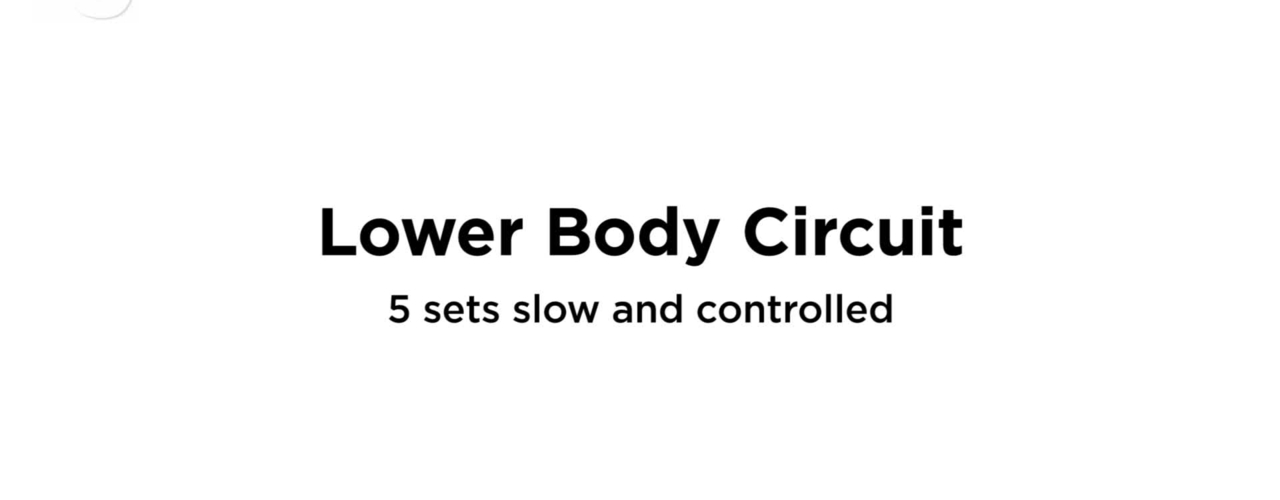 Lower Body Circuit