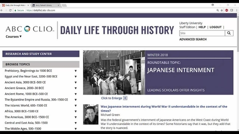 Thumbnail for entry Daily Life through History Database