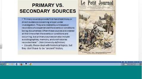 Thumbnail for entry Using Primary Sources for Historical Research