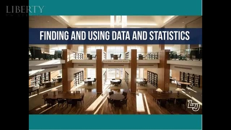 Thumbnail for entry Finding and Using Data and Statistics