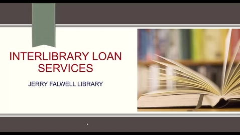 Thumbnail for entry How to Use InterLibrary Loan