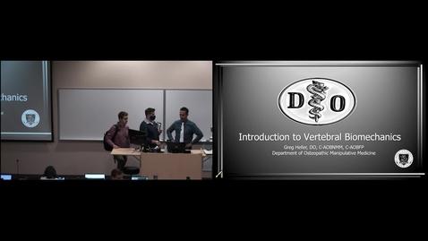 Thumbnail for entry OMM 101 - Vertebral Biomechanics (Lecture - Dr. Heller)