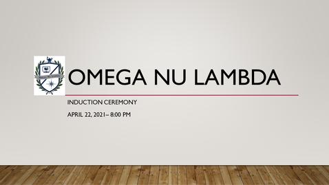 Thumbnail for entry Omega Nu Lambda Induction Ceremony