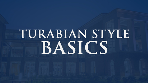Thumbnail for entry Turabian Style Basics: 9th Edition