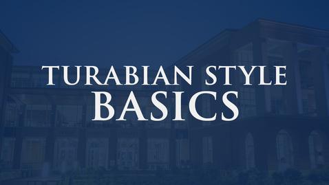 Thumbnail for entry Turabian Style Basics: 9th Edition