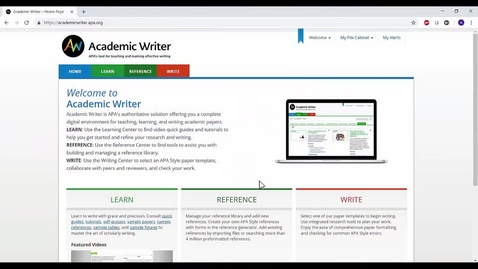 Thumbnail for entry Creating an Academic Writer Account