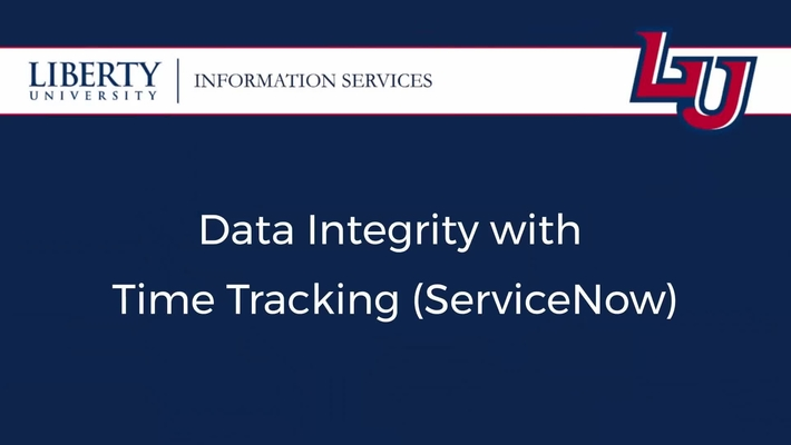 Data Integrity with Time Tracking