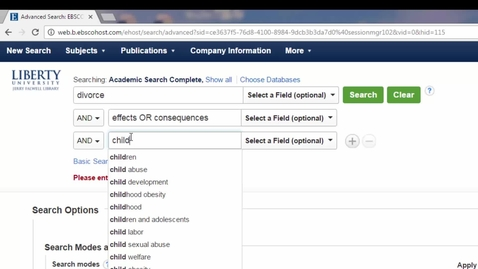 Thumbnail for entry Finding Articles Using EBSCO Quick Search