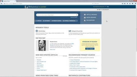 Thumbnail for entry Britannica Academic Tutorial