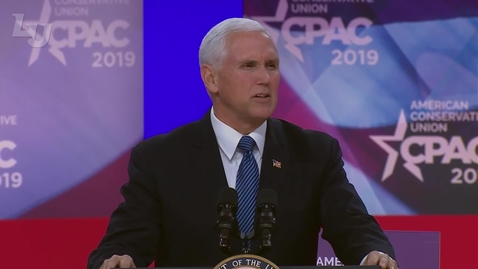 Thumbnail for entry VP Mike Pence Announces to Speak at LU Commencement