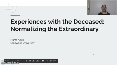 Thumbnail for entry Experiences with the Deceased: Normalizing the Extraordinary (#3)