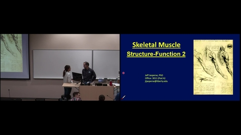 Thumbnail for entry IMSK - Muscle Function 1 (Lecture - Dr. Jasperse)