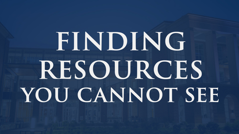 """Thumbnail for entry """"Finding Resources: E-books"""