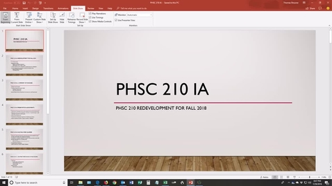 Thumbnail for entry PHSC210 Course Showcase Video