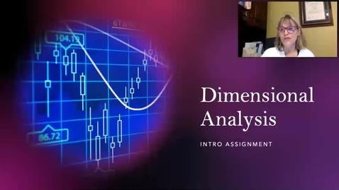 Thumbnail for entry Dimensional Analysis Intro