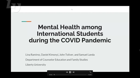 Thumbnail for entry Mental Health Among International Students during the COVID Pandemic (#11)