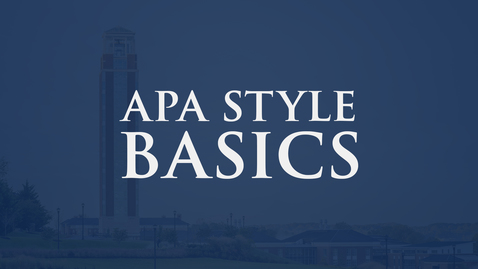 Thumbnail for entry APA Style Basics: 7th Edition