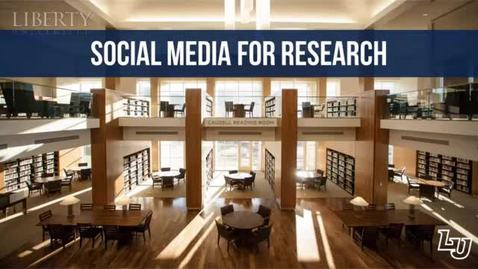 Thumbnail for entry Social Media for Research