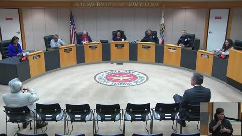 Thumbnail for entry SAUSD Special Board Meeting January 29, 2019