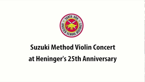 Thumbnail for entry Suzuki Concert at Heninger Elementary School