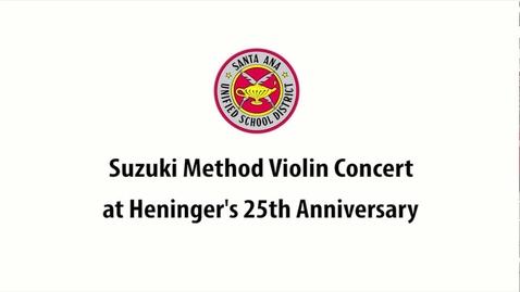 Thumbnail for entry Suzuki Concert at Heninger Elementary School