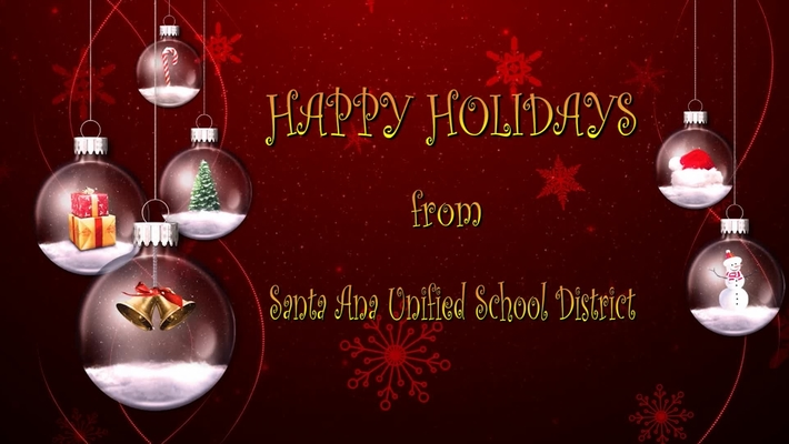 Happy Holidays from SAUSD 2017