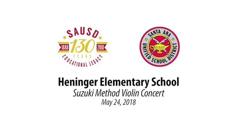 Thumbnail for entry Heninger Elementary 700+ Violins Performance May 24, 2018 [SAUSD-TV]