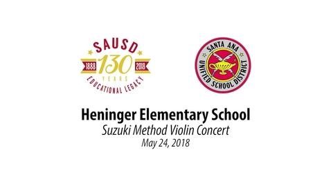 Thumbnail for entry Heninger Elementary 700+ Violins Performance May 24, 2018 [SAUSD-TV]