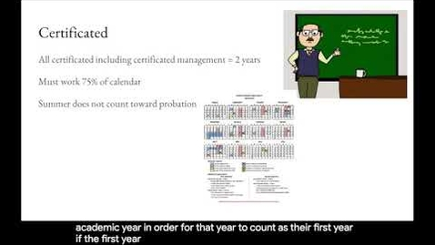 Thumbnail for entry Probationary Period - Certificated