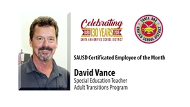 Thumbnail for entry David Vance SAUSD Certificated Employee of the Month