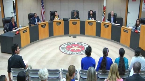 Thumbnail for entry SAUSD Special Board Meeting, July 14, 2017