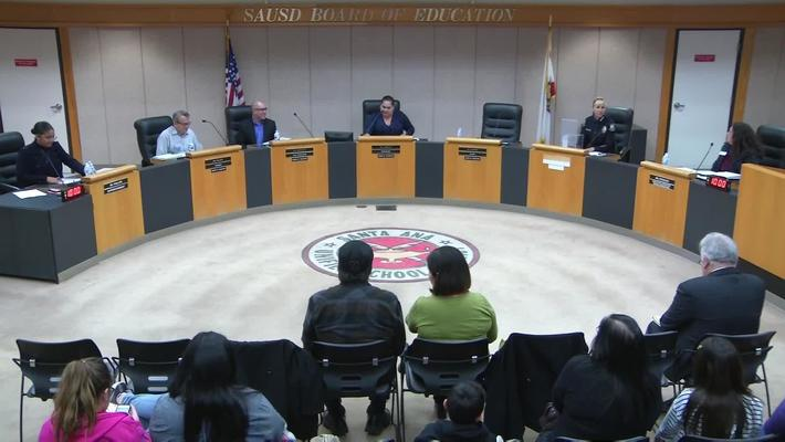 SAUSD Special Board Meeting January 8, 2019