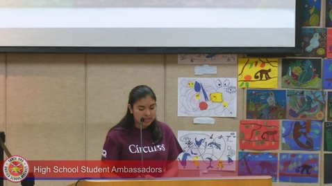 Thumbnail for entry High School Student Ambassadors March 10, 2020