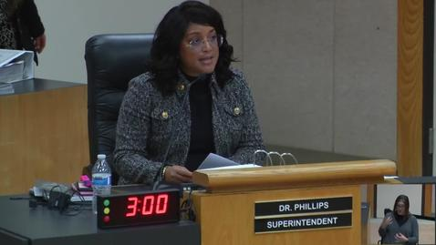 Thumbnail for entry Superintendent Stefanie Phillips, Ed.D. Report to SAUSD School Board, February 12, 2019