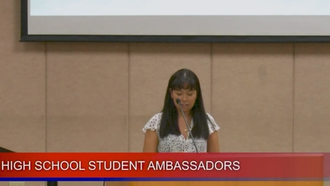 Thumbnail for entry High School Student Ambassadors February 11,2020