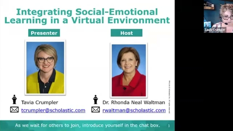 Thumbnail for entry Integrating Social Emotional Learning Supports into Virtual Learning (MORNING SESSION)