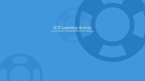 Thumbnail for entry SOS Learning - Tweet Tweet
