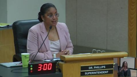 Thumbnail for entry Superintendent Stefanie Phillips, Ed.D. Report to SAUSD School Board, March 26, 2019