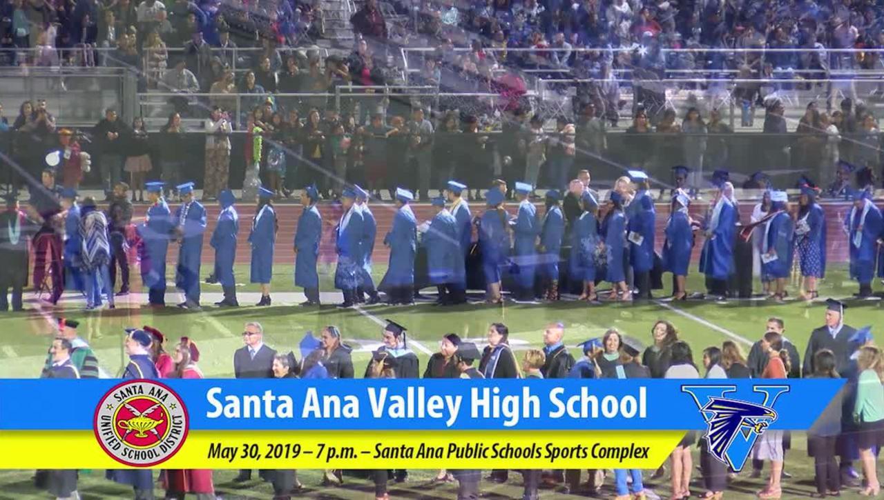 Santa Ana Valley High School 2019 Graduation