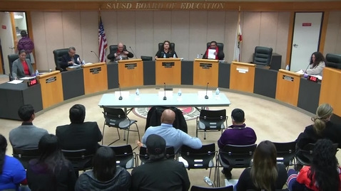 Thumbnail for entry SAUSD Special Board Meeting January 15, 2019