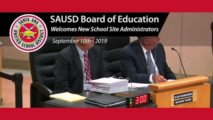 Board Welcomes New Site Adminstrators 2019