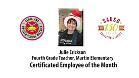 Thumbnail for entry Mrs. Julie Erickson, Martin Elementary Certificated Employee of the Month