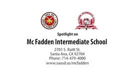 Thumbnail for entry Spotlight on Mc Fadden Intermediate School