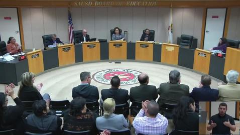 Thumbnail for entry SAUSD Special Board Meeting June 19, 2019