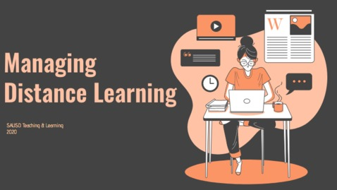 Thumbnail for entry Managing Distance Learning