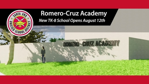 Thumbnail for entry Romero-Cruz Academy New TK-8 School