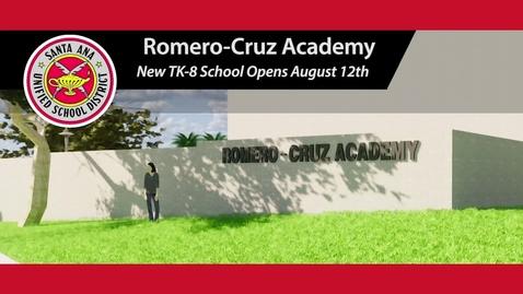 Thumbnail for entry Romero-Cruz Academy New TK-8 School