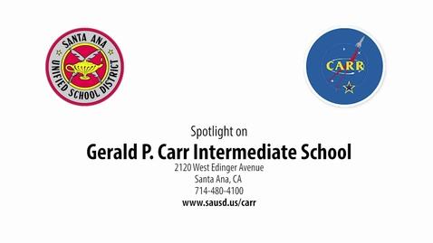 Thumbnail for entry Spotlight on Carr Intermediate 2019