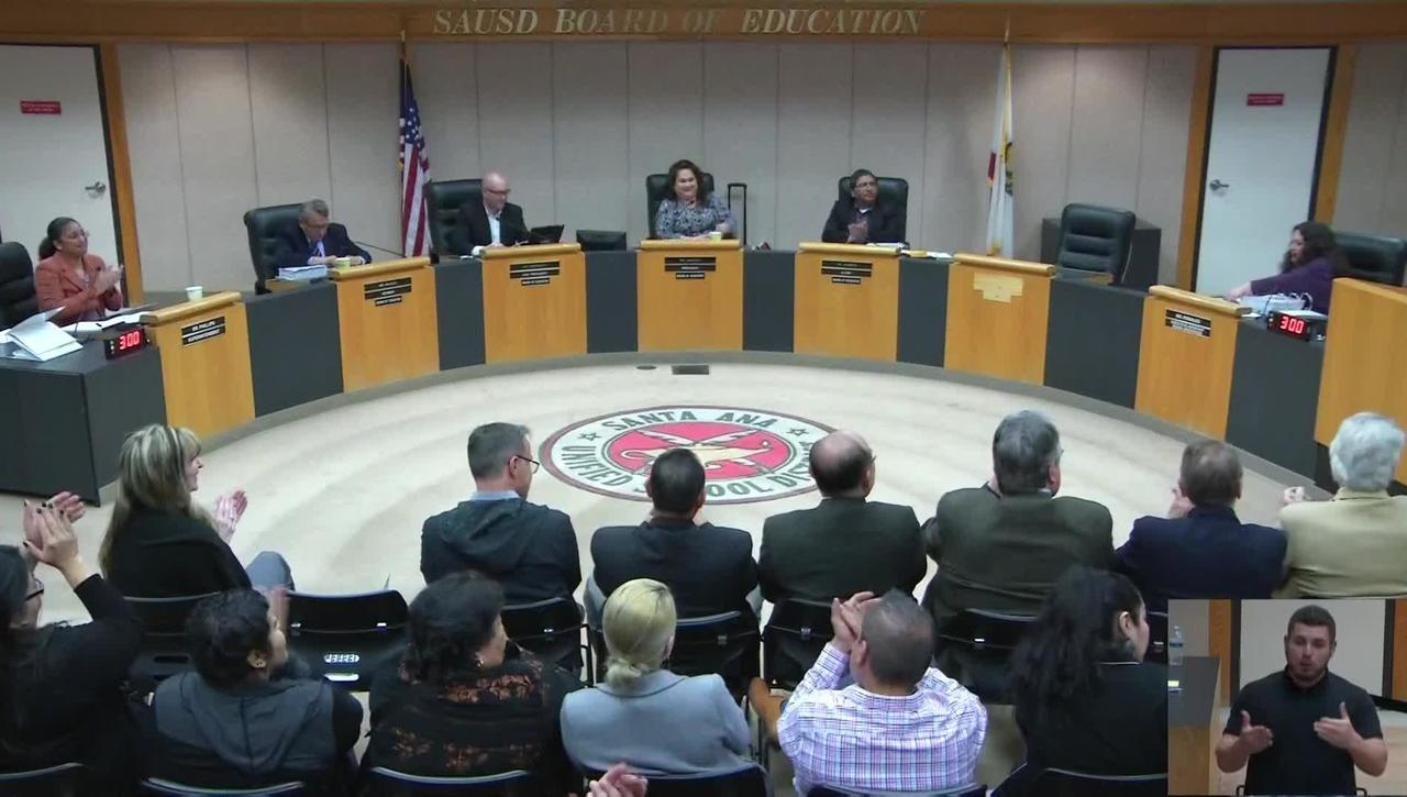 SAUSD Board Meeting March 12, 2019