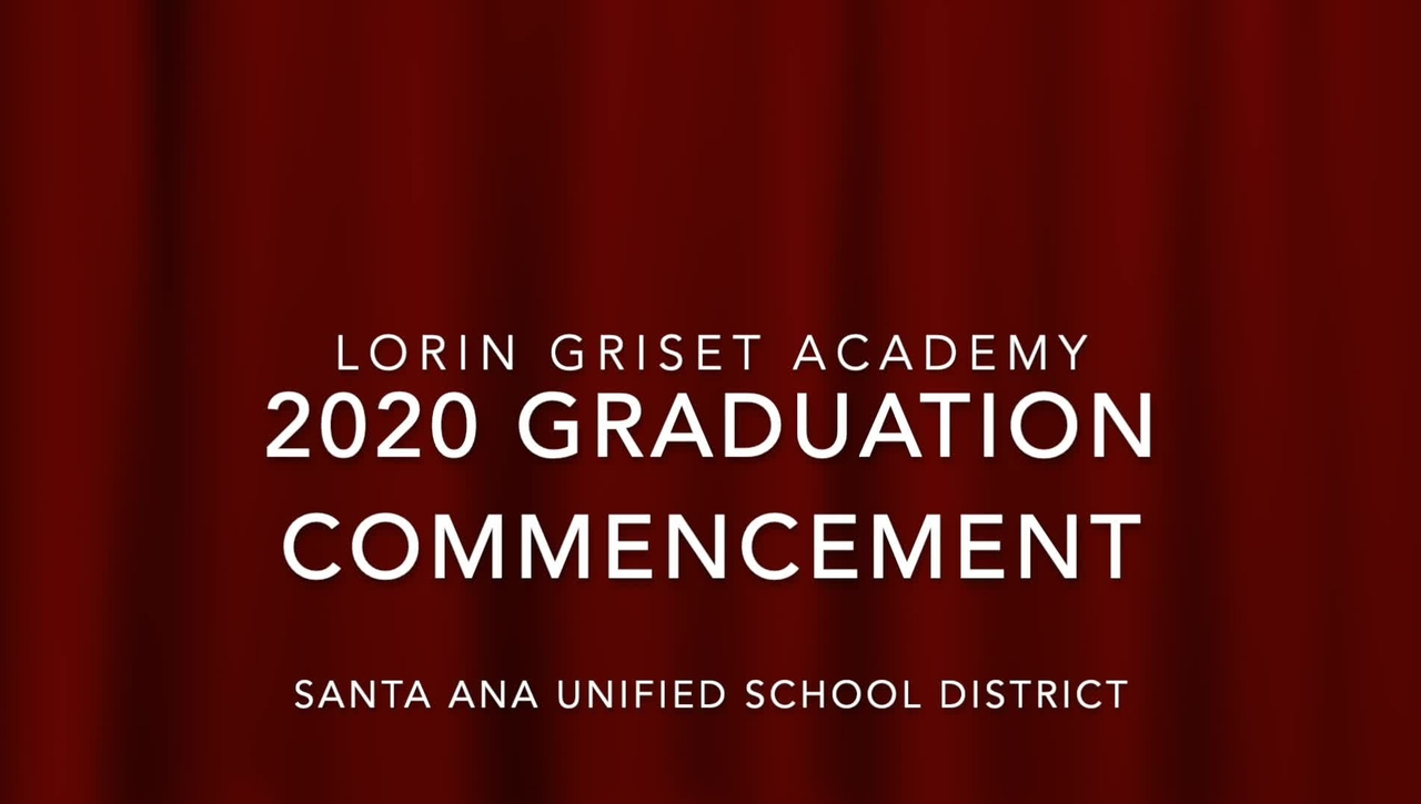 Lorin Griset Academy 2020 Graduation Ceremony